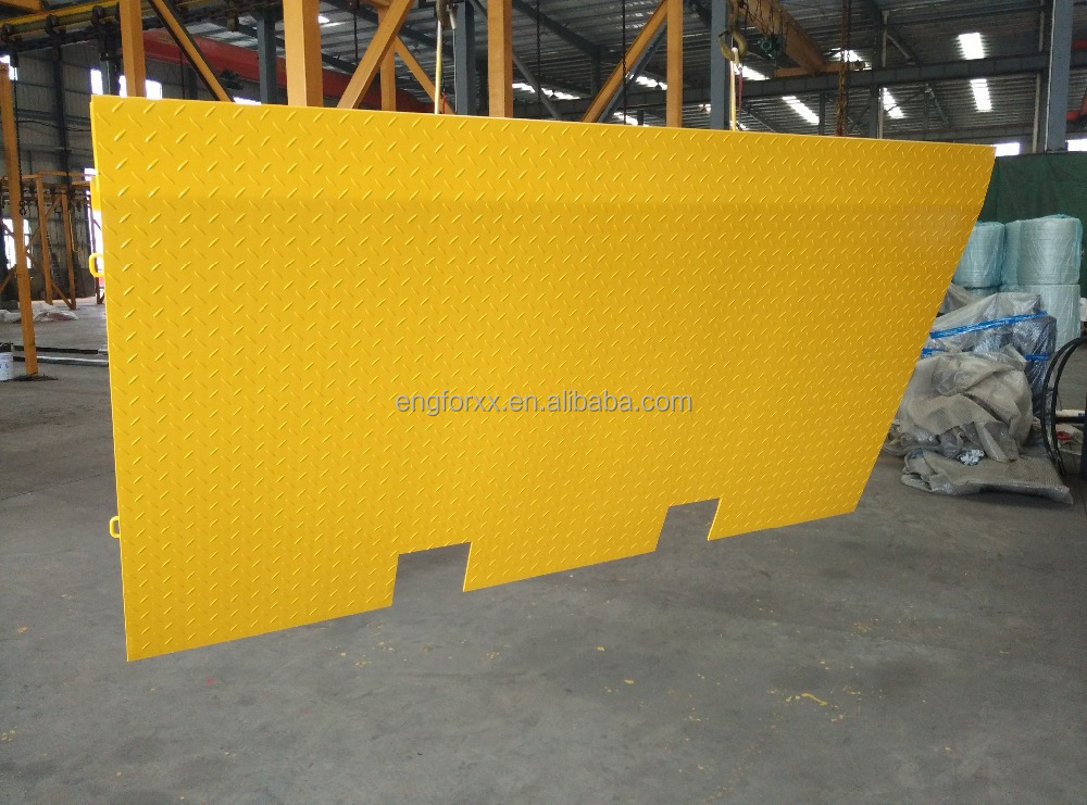 forklift work container ramp loading dock ramp
