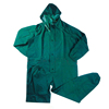 green one piece pvc/polyester/pvc coverall style raincoats