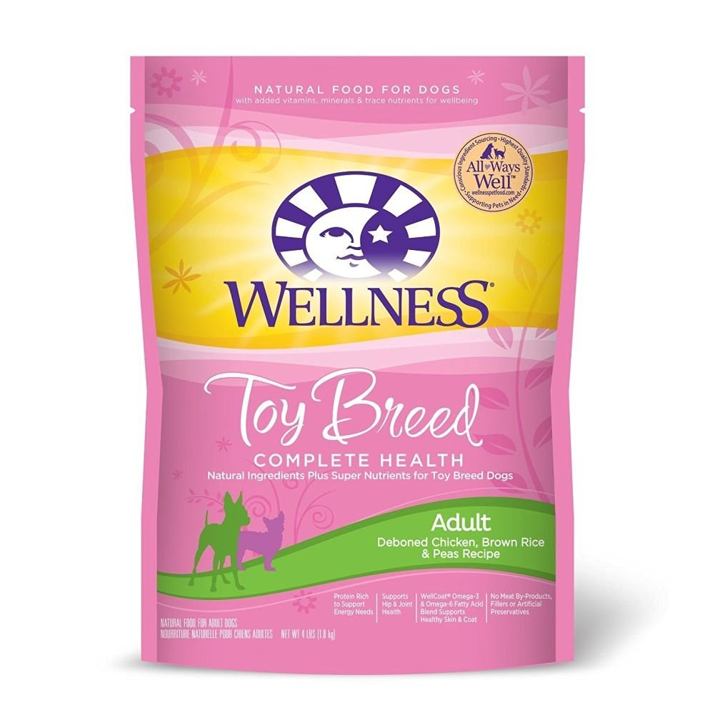 Wellness Complete Health Natural Dry Dog Food Small Toy Breed Chicken Brown Ri