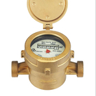 Single-jet wet type brass body water meter