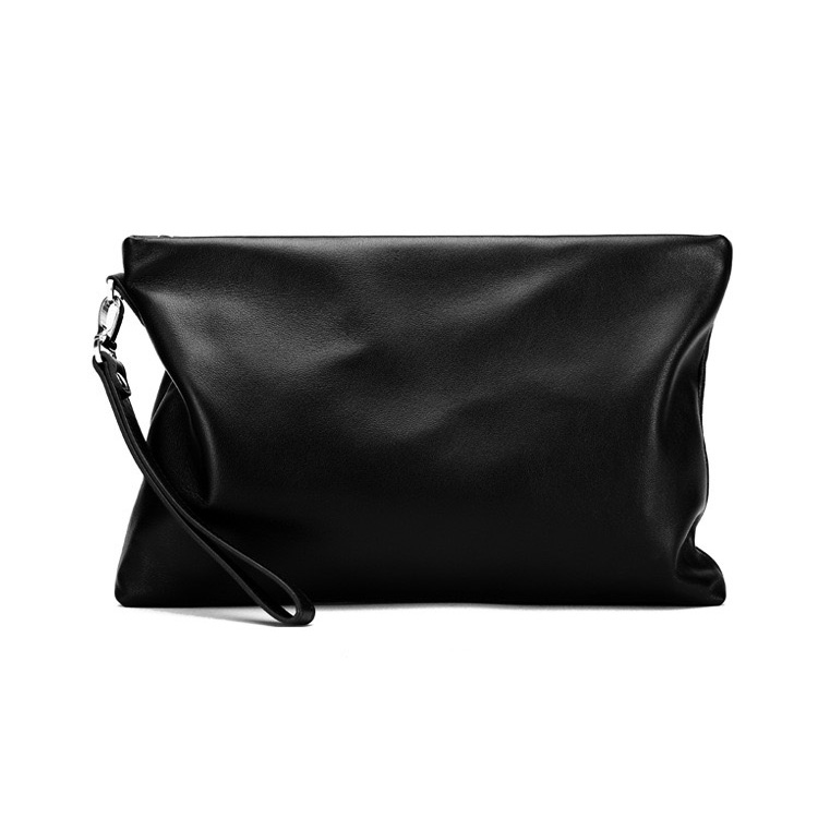 Black soft daily luxury wallet genuine <strong>leather</strong> <strong>clutch</strong> men