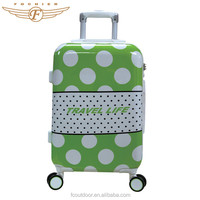 Stylish Green Color ABS PC Spinner Wheel Trolley Luggage