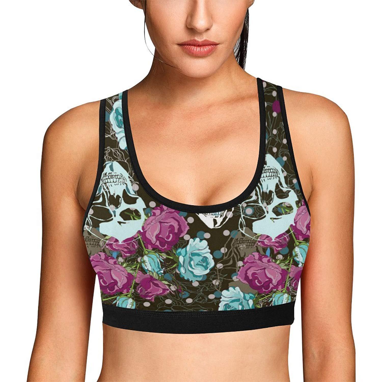 InterestPrint Womens Training Shirts Sports Bra Tops for Women