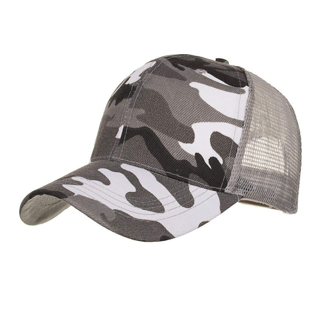 b7bc8cd3adc Funic Clearance Sale Camouflage Summer Cap Mesh Hats for Men Women Casual  Hats Hip Hop Baseball