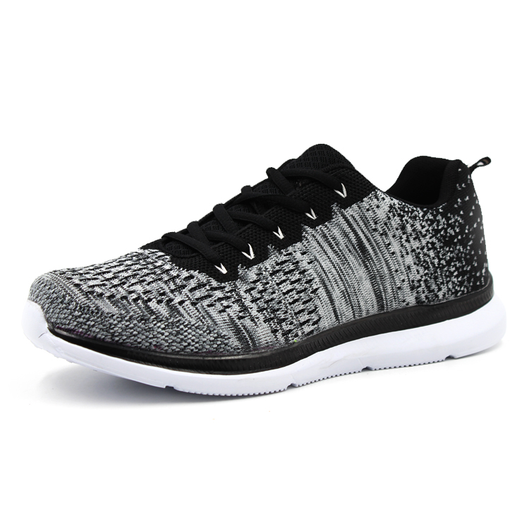 Outdoor Breathable Comfortable Running Lace-up Fly Knit Light Weight Men's Sport Shoes Sneaker