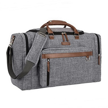 ccebb377c8 Mens supreme duffle bag travel business weekend bag with leather trim