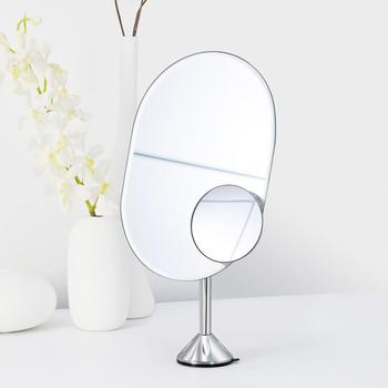 One Way Oval Frameless Suction Cup Pedestal Vanity mirror For Girls
