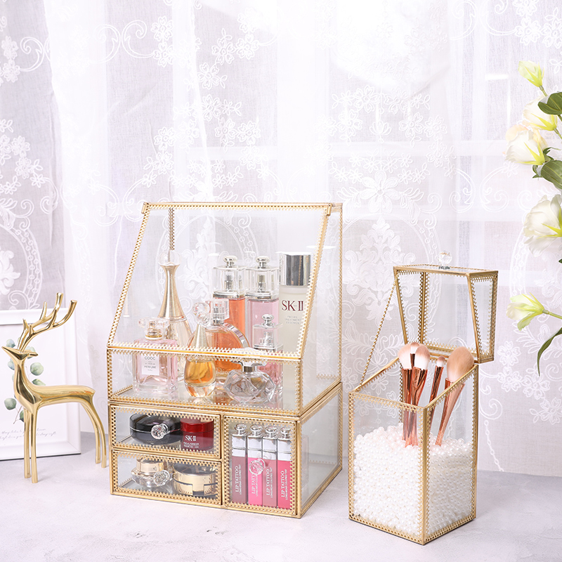China lingerie&baby kids clothes makeup organizer; hello kitty^ food plastic container homes[] glass metal fold able storage box