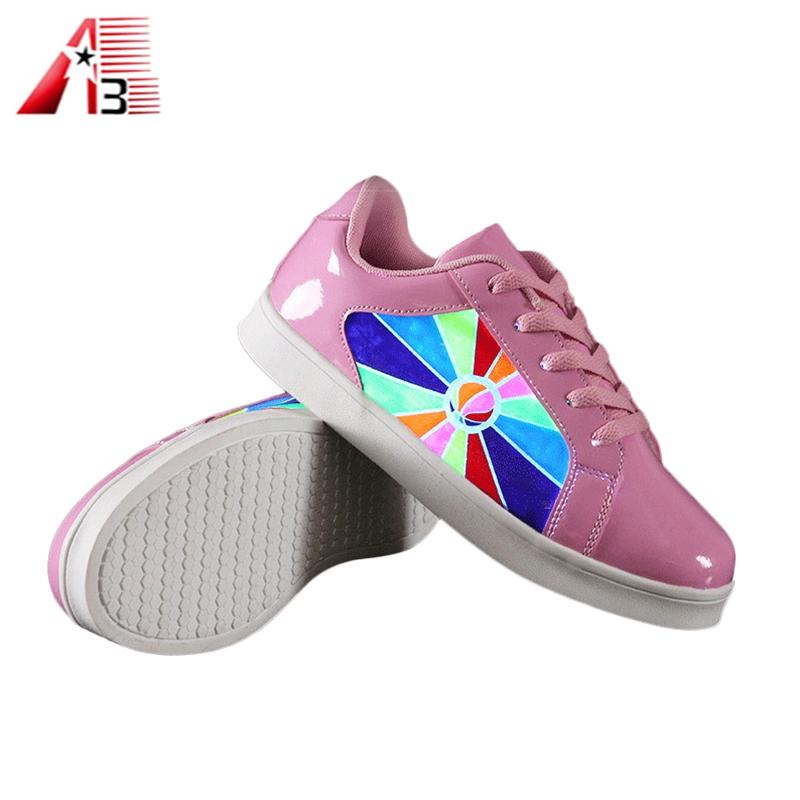 Sneaker Unisexe LED Light Lace Up ChaussuresChangement de couleur clignotant yGFMzq