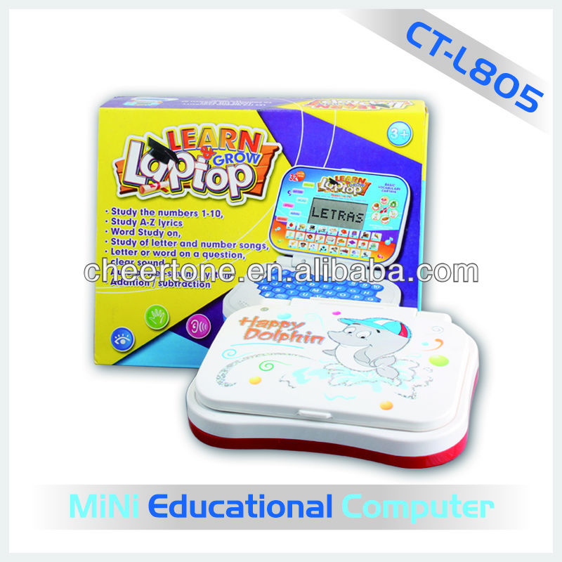 Touch colored screen newest early learning toy mini computer for kids
