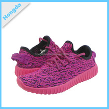 2016 women sport shoes and sneakers with fly knit fabric