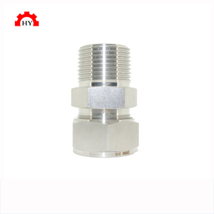 High quality stainless high pressure swivel male threaded 20mm steel bar tube connector