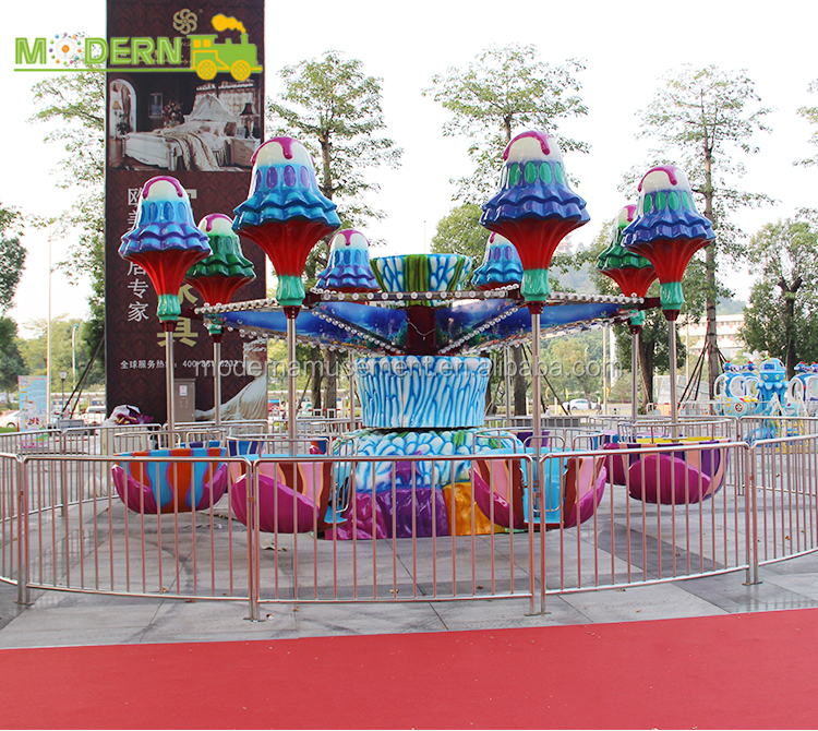 Modern fun park equipment 32 riders crazy family Jellyfish Ride