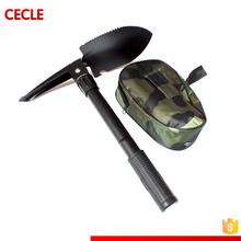 Multifunction Military Folding Shovel with Carrying Pouch Multi Purpose Tactical Army Trench Shovel Survival Steel