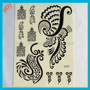 black ink henna custom water based temporary tattoos sri lanka