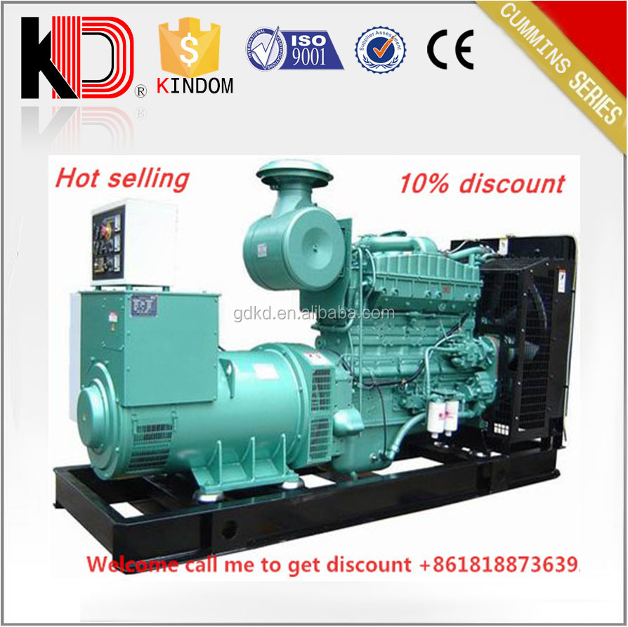 Promotional Price! AC Three Phase 380Volt 200kW 250kVA Diesel Dynamo with Cummins Engine