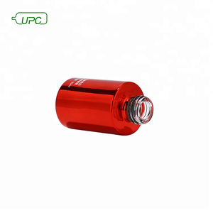 Mini red screw cap cosmetic travel sample toner PET packaging bottle