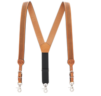 FREE SAMPLE FACTORY PRICE Wholesale custom genuine leather suspenders fashion suspenders for men