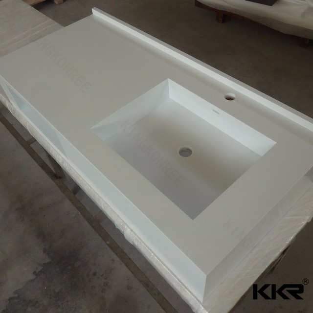 Crystal White Quartz One Piece Bathroom