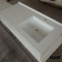 crystal white quartz one piece bathroom sink and countertop seashell countertops