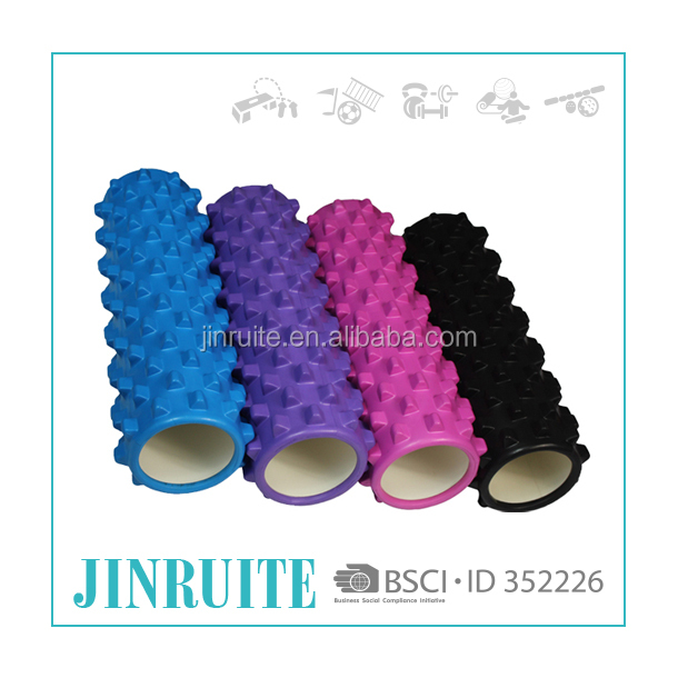Wholesale Purple Yoga Pilate Muscle Exercise EVA grid Massage Foam Roller