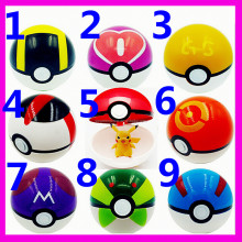2016 Hot Sale 9 Pieces Plastic Super Anime Figures Balls for Pokemon Kids Toys Balls,Pokemon Pokeball