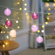 New Design Holiday Decorative Ambience Cotton Ball led string fairy light