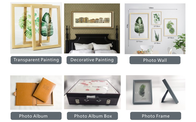 WM-B0001 Hot sale  wooden photo frame