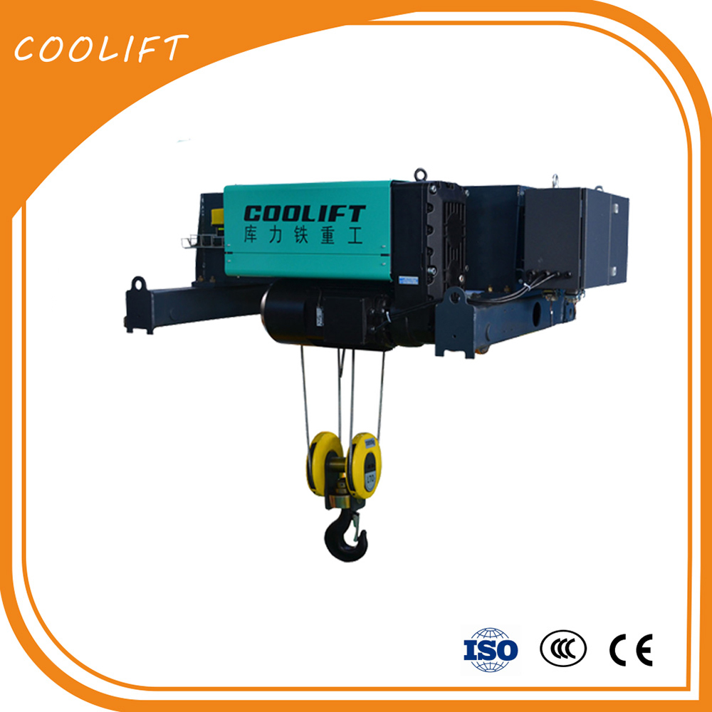 High quality electric wire rope 10T Double Girder launch car hoist