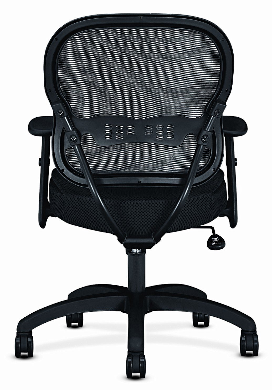 Mid-Back Mesh Office Chair, Black Mesh - Quality Office Chairs with Arms, with Comfortable Back Support - Ideal Executive Office Chair, Managerial Chair, Computer Chair or Home Office Chair