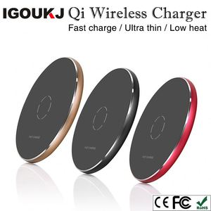Ultra thin quick charging plates with CE FCC portable&usb fast charge for iphone for samsung qi wireless charger pad