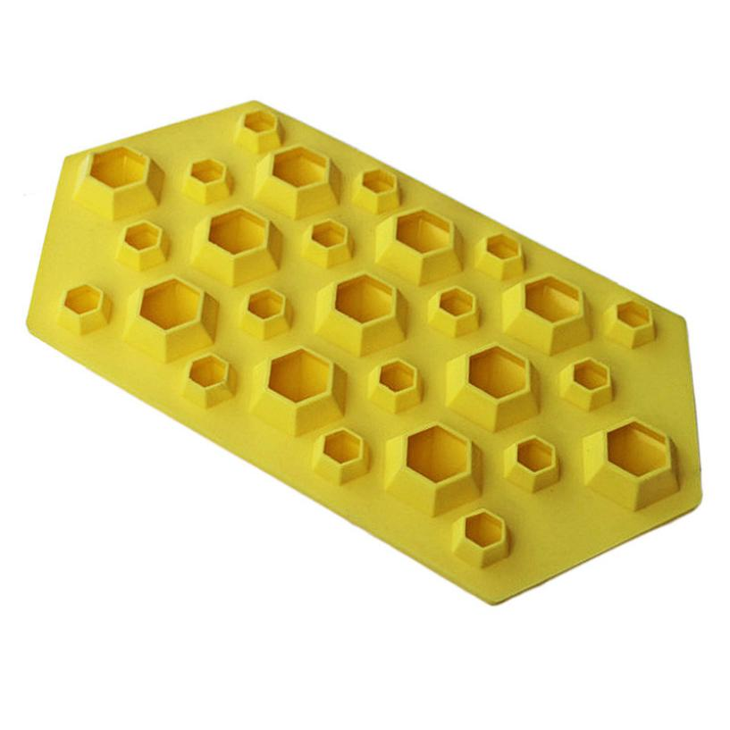 Hot-sale Flexible 27 Cavities Tasteless Hot sales 100% Food Grade Silicone Diamond Mold Ice Cube Tray of Kitchen Tool