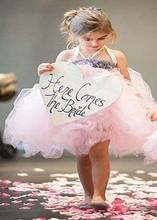 Shabby Flower Girl font b Dress b font Ribbon Bow Princess Kid Party Pageant Wedding Bridesmaid