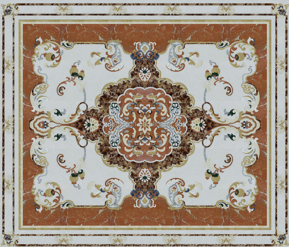 Marble Floor Pattern water jet marble classic pattern,marble inlay flooring design
