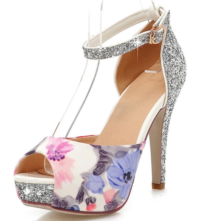 97a073b21463 Get Quotations · ENMAYER Newest 2015 Women s Sandals Fashion Sexy Med Kitten  Heel Wedding Sandals Summer Shoes Patent Sandals