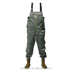 Nylon cloth PVC boots Waterproof chest waders used for farming fishing outdoor work