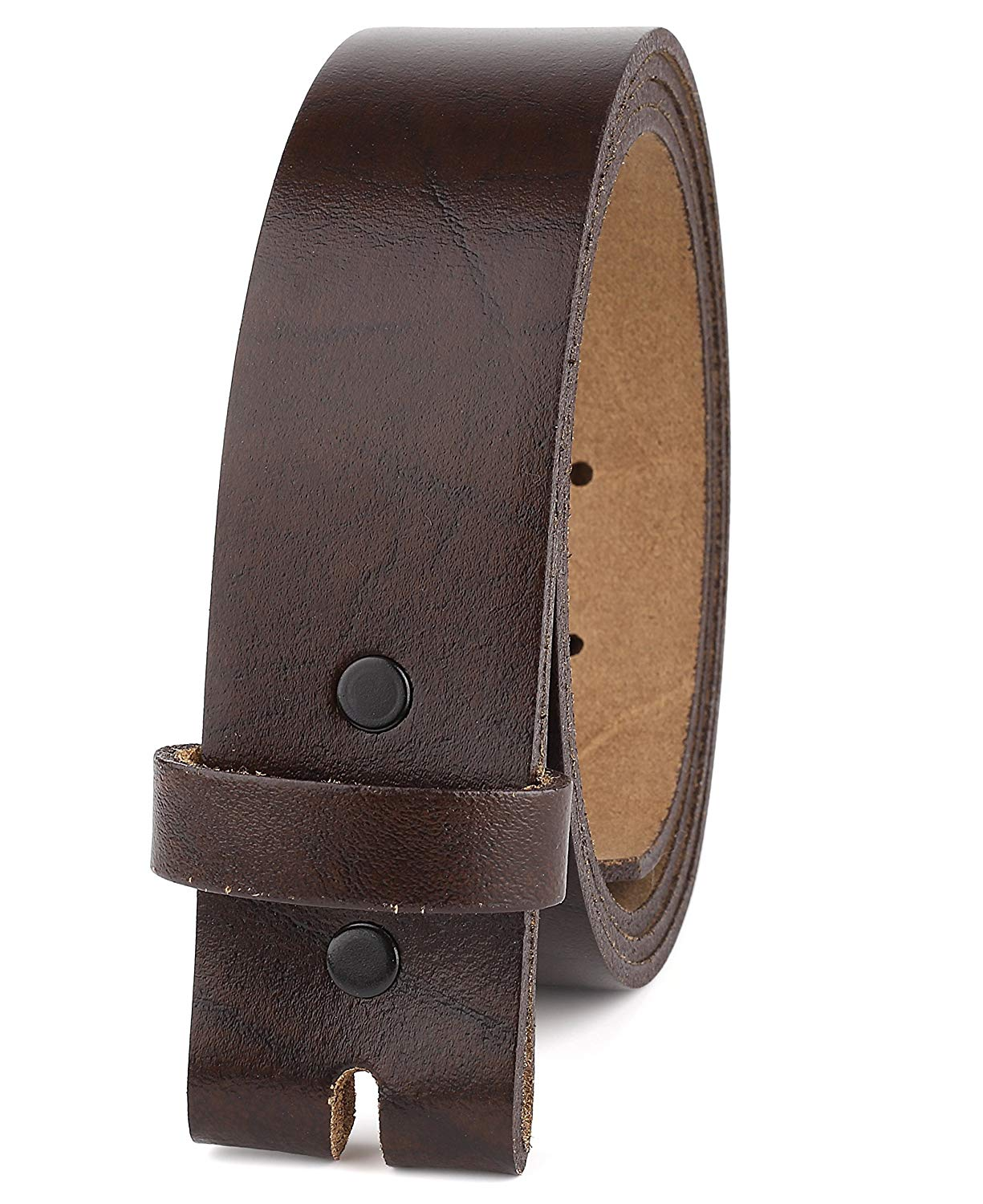 "Belt for Buckles 100% Top Grain One Piece Leather,up to Size 62, 1-1/2"" Wide, Made in USA"
