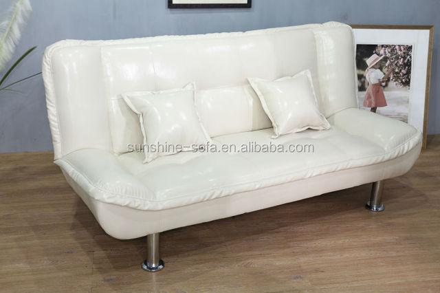 Adjule Leather Sofa Fold Down