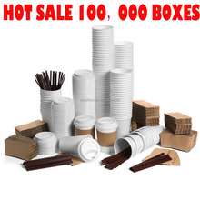 hot sales paper coffee cup with Lids & Sleeves & Straws for Amazon and wholesale