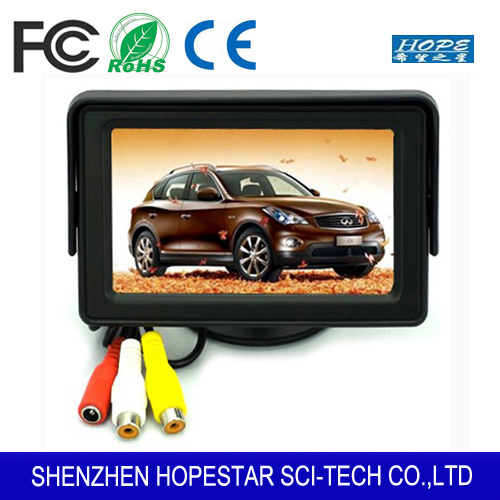 4.3 inch LCD Digital Car Rear View Monitor For reverse Camera