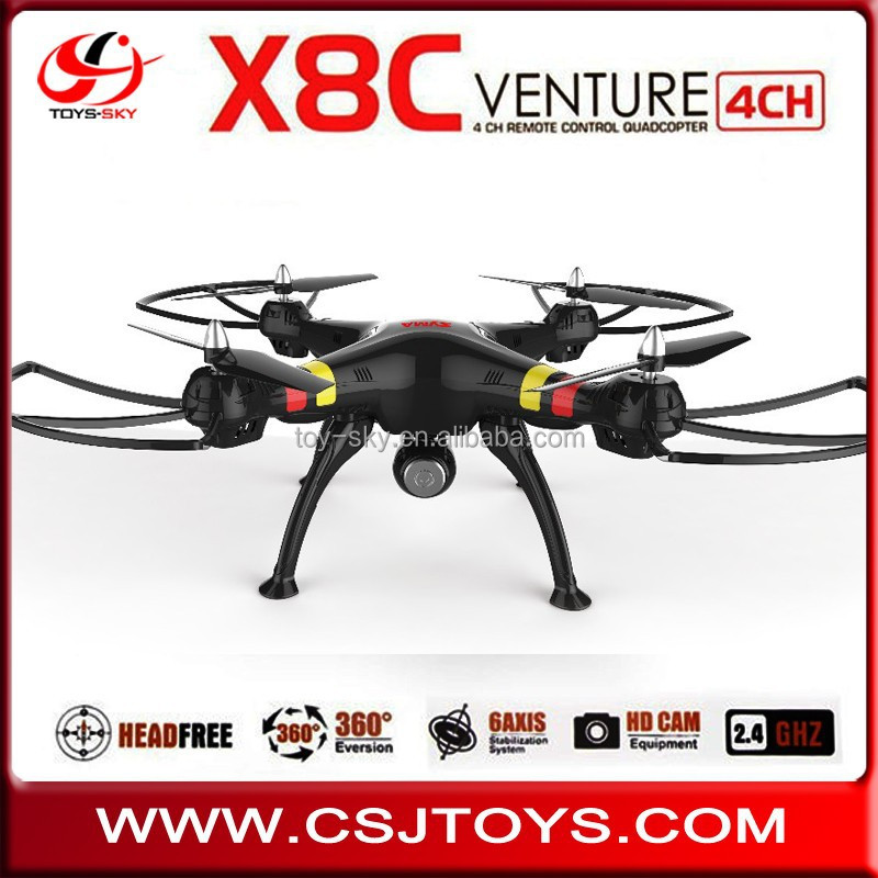 Newest Syma x8c Venture 2.4G 4CH universal remote control Uav Professional Big Drones With Live camera