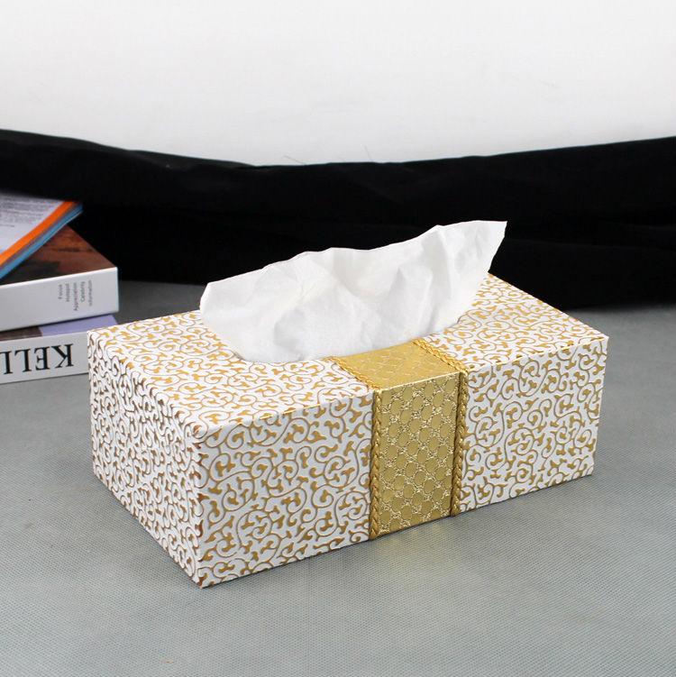 buy magnetic lock wooden struction leather rectangle tissue box holder napkin. Black Bedroom Furniture Sets. Home Design Ideas