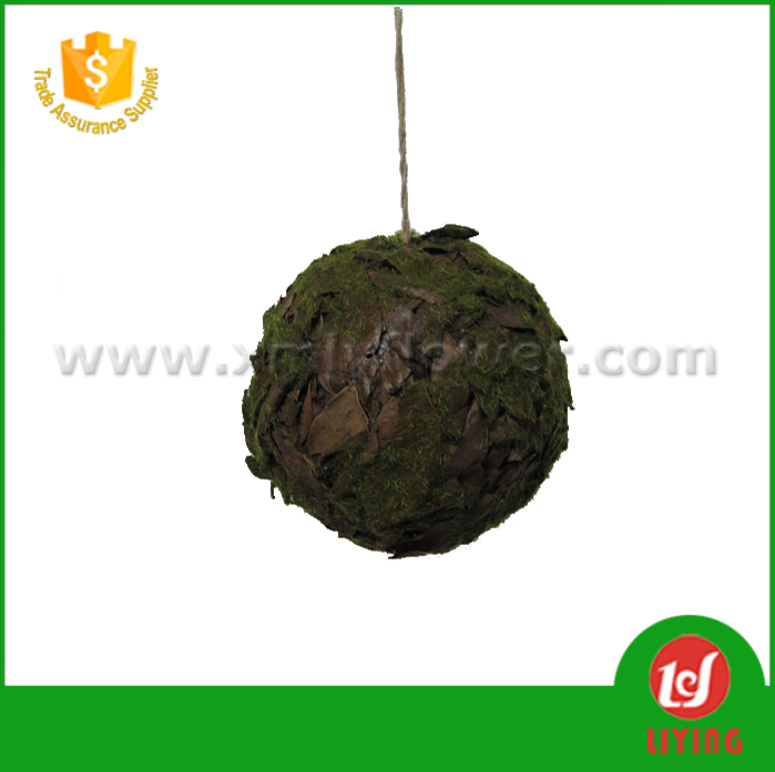DIA 16CM Christmas Decoration Handmade Artificial Moss Ball of Dried Autumn Leaves Rainmoss