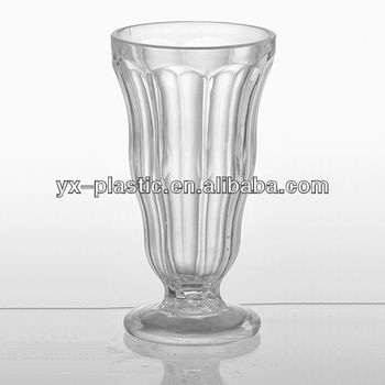 Ps Clear Plastic Milkshake Sundae Soda Ice Cream Glass