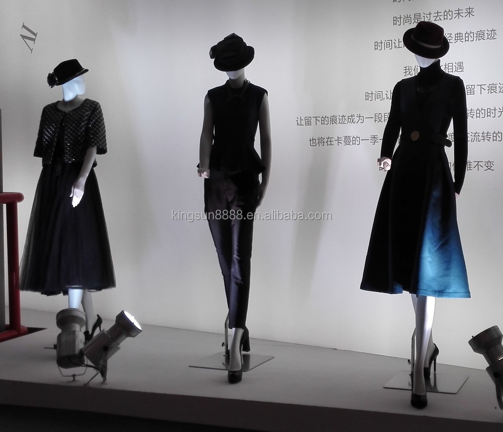 Garment Store Display Dress Forms High Glossy Mannequins