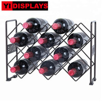 Assembled metal wine display rack wine display stand retail wine display racks