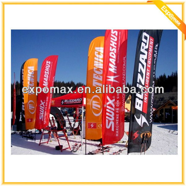 Customized Advertising And Promotional Wholesale plastic PVC wall flag pole