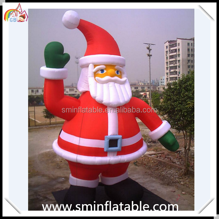 Manufacturer inflatable santa claus, oxford cloth santa decor for christmas, Christmas giant santa claus for advertising event