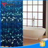 Thick extra long fish design polyester decorative shower curtain
