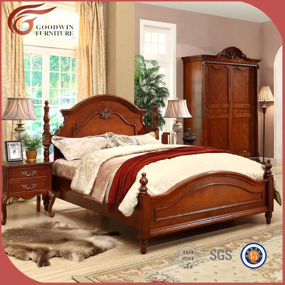 Venta al por mayor muebles tallados pintados compre online for Dormitorio king size